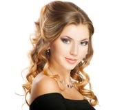 Стиль причёсок красотки Стоковое Изображение RF