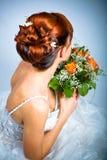 Стиль причёсок невесты Стоковое Изображение