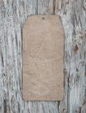 Стиль пустой бирки ретро на старой деревянной текстуре Стоковая Фотография RF