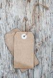 Стиль пустой бирки ретро на старой деревянной текстуре Стоковое Фото