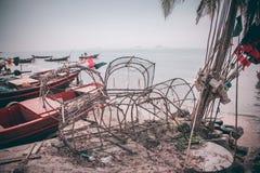 Стиль рыбной ловли Таиланда стоковое изображение