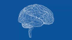 Стиль светокопии концепции человеческого мозга иллюстрация вектора