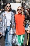 Стиль 2017 улицы недели моды Милана Стоковая Фотография