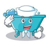Стиль шаржа характера ванны матроса Стоковые Изображения RF