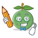 Стиль шаржа характера guava студента Стоковое фото RF