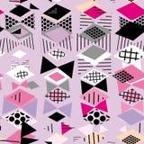 Стиль 80-90s моды Мемфиса геометрических элементов постмодернистский ретро серый цвет несимметричной картины треугольника косоуго иллюстрация штока