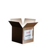 стимул пакета коробки хозяйственный изолированный Стоковое фото RF