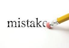 Стирать вашу ошибку стоковое фото rf
