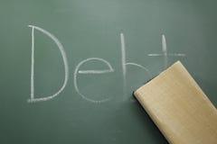 стирать задолженности Стоковые Изображения