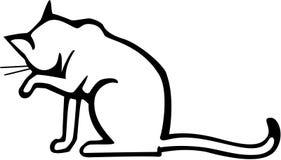 Стирка кота иллюстрация вектора