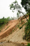 Стихийные бедствия, оползни во время сезона дождей в Таиланде Стоковая Фотография