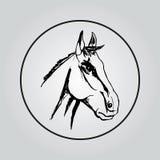 Стилизованная голова лошади Стоковые Фото