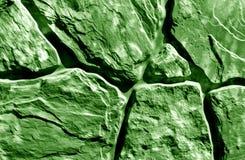 Стилизованная зеленая текстура каменной стены Стоковые Фото