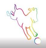 Стилизованная игра собаки с шариком Стоковая Фотография