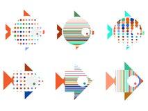 Стилизованная иллюстрация рыбы Дизайн логотипа для компании Стоковые Фотографии RF