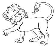 Стилизованная иллюстрация льва иллюстрация вектора