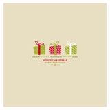 Стилизованная карточка рождества и Нового Года с праздником  иллюстрация вектора