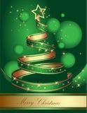 Стилизованная рождественская елка ленты также вектор иллюстрации притяжки corel Стоковые Изображения