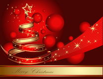 Стилизованная рождественская елка ленты Стоковые Изображения