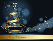 Стилизованная рождественская елка ленты Стоковая Фотография RF
