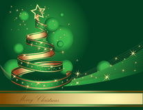 Стилизованная рождественская елка ленты Стоковая Фотография