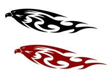 Стилизованная сделанная по образцу птица хищника Стоковые Фото
