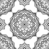 Стилизованная флористическая орнаментальная картина Стоковая Фотография