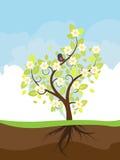 Стилизованное дерево весны Стоковое Фото