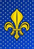 Стилизованное Золот Fleur de Lis Стоковые Изображения