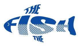 Стилизованное изображение в форме рыб Стоковые Изображения RF