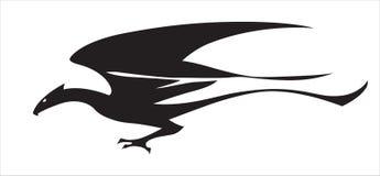 Стилизованное изображение дракона летания Стоковая Фотография