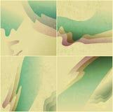Стилизованное ретро абстрактная предпосылка Волна Иллюстрация вектора