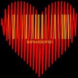 Стилизованное сердце для продажи Стоковое Изображение RF