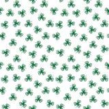 Стилизованные зеленые листья контура клевера иллюстрация вектора