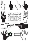 Стилизованные изображения рук Стоковые Изображения