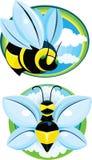 Стилизованные пчелы Стоковая Фотография RF