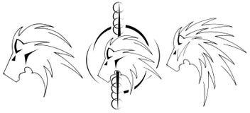 Стилизованные львы Стоковое Изображение RF