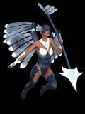 Стилизованный женский ангел Стоковые Изображения