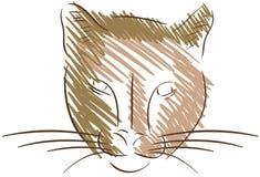 Стилизованный изолированный кугуар иллюстрация штока