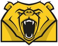 Стилизованный логотип головы медведя Стоковое фото RF