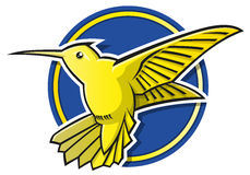 Стилизованный логотип колибри Стоковые Изображения