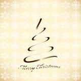 Стилизованный плакат с рождественской елкой Стоковая Фотография RF