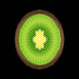 Стилизованный плодоовощ кивиа с структурой полигона треугольника Стоковое Изображение