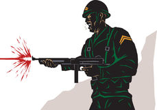 Стилизованный солдат Стоковая Фотография RF
