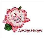 Стилизованный цветок в полигональном стиле Стоковое Изображение RF