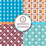 Стилизованный чертеж Комплект геометрических картин квадрат треугольник Выбор картин Картина вектора геометрических форм geom Стоковое Изображение RF