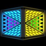 Стилистическая абстрактная светлая предпосылка с разнообразной геометрической структурой иллюстрация 3d Бесплатная Иллюстрация