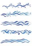 Стили красивых свирлей акварели различные Стоковое Изображение