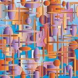 Стильная абстрактная безшовная картина Стоковая Фотография