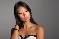 Стильная азиатская девушка Стоковая Фотография